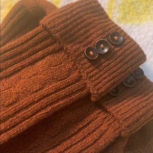 Orange Socks Autumn Fall Burnt Copper Buttons